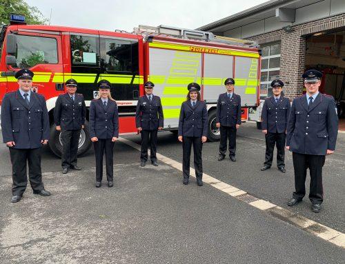 Vier neue Einsatzkräfte für die Langfördener Feuerwehr