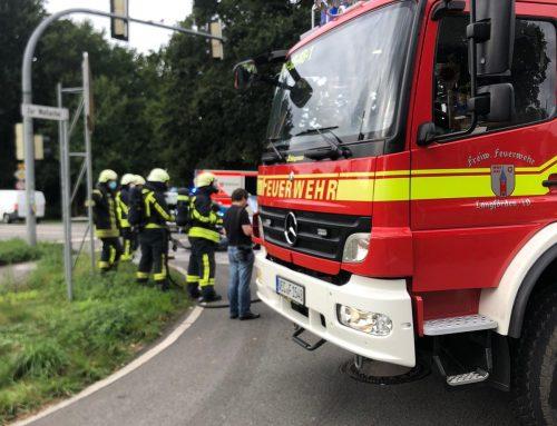 Entstehungsbrand nach Verkehrsunfall